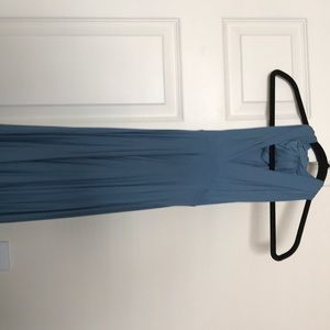 Steel blue LuLu's multi way wear bridesmaids dress